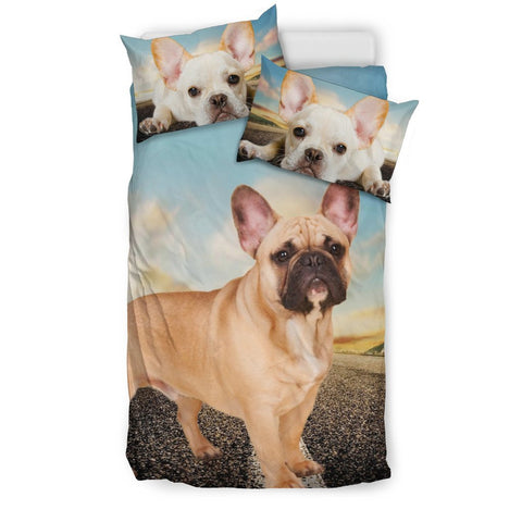 Cute French Bulldog Print Bedding Set- Free Shipping