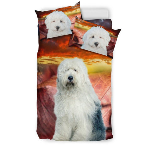 Old English Sheepdog Print Bedding Set- Free Shipping
