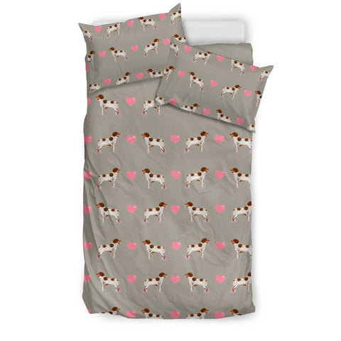 Brittany Dog Pattern Print Bedding Set-Free Shipping
