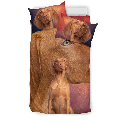 Cute Vizsla Dog Print Bedding Set- Free Shipping