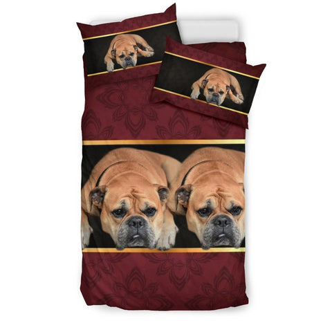 Bullmastiff Print On Red Bedding Sets-Free Shipping