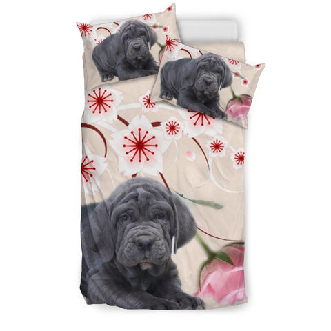 Neapolitan Mastiff Dog With Rose Print Bedding Sets-Free Shipping