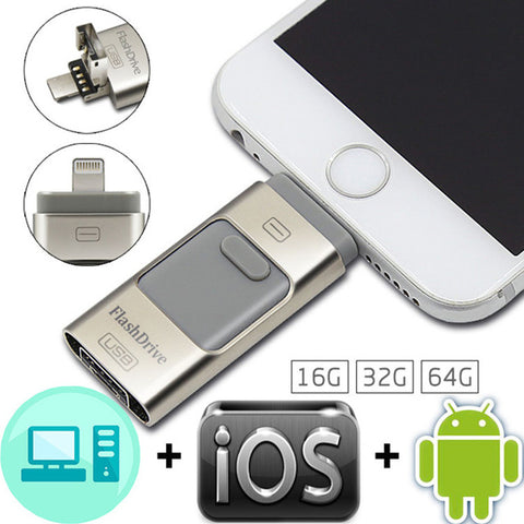 Lightning USB Flash Drive  For iPhone Android and PC