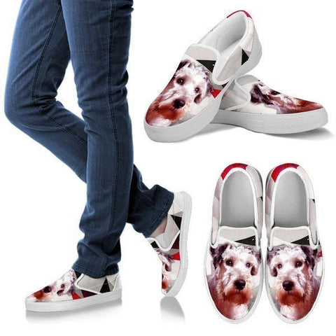 Cesky Terrier Print Slip Ons For Women- Express Shipping