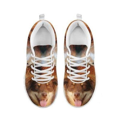 Cute English Shepherd Print Running Shoes For Women- Free Shipping-For 24 Hours Only