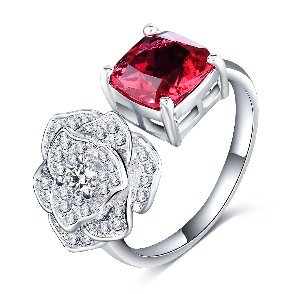 ring silver jewellery sale carat on ruby indian product sterling