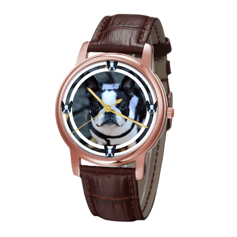 Boston Terrier Classic Fashion Wrist Watch- Free Shipping-Paww-Printz-Merchandise