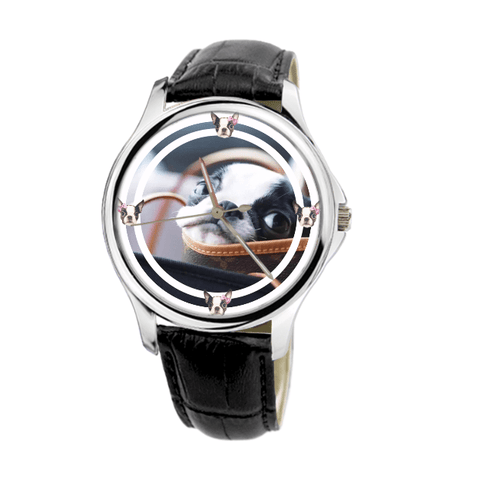 Boston Terrier Unisex Fashion Wrist Watch- Free Shipping-Paww-Printz-Merchandise