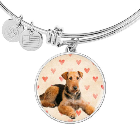 Airedale Terrier Print Luxury Bangle-Free Shipping