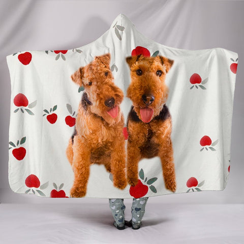 Welsh Terrier Dog Print Hooded Blanket-Free Shipping