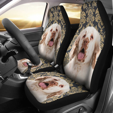 Cute Clumber Spaniel Print Car Seat Covers-Free Shipping
