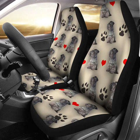 Cesky Terrier Dog Print Car Seat Covers-Free Shipping
