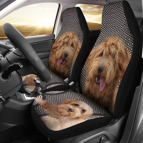Goldendoodle Dog Print Car Seat Covers-Free Shipping