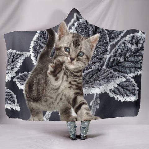 Cute American Bobtail Cat Hooded Blanket-Free Shipping