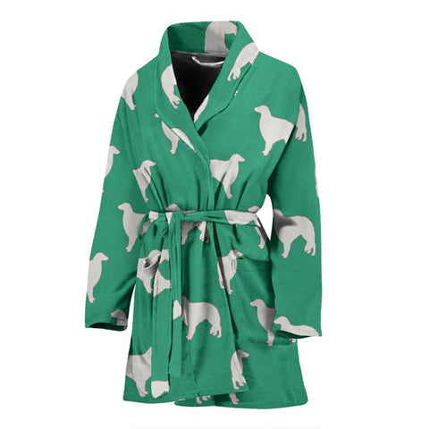 Borzoi Dog Pattern Print Women's Bath Robe-Free Shipping