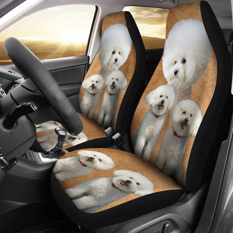 Cute Bichon Frise Print Car Seat Cover-Free Shipping