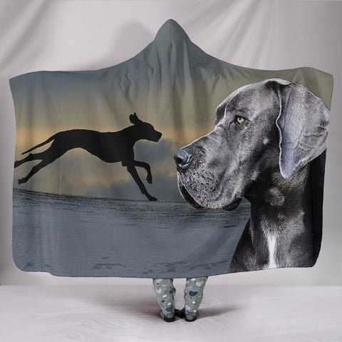 Great Dane Dog Print Hooded Blanket-Free Shipping
