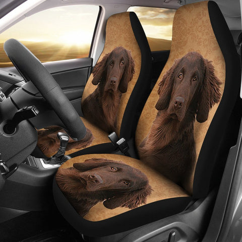 Flat Coated Retriever Print Car Seat Covers-Free Shipping