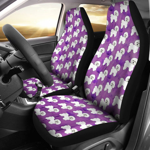 Bichon Frise Dog Pattern Print Car Seat Covers-Free Shipping