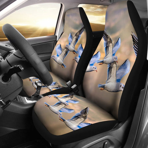 Gulls or Seagulls Bird Flying Print Car Seat Covers-Free Shipping