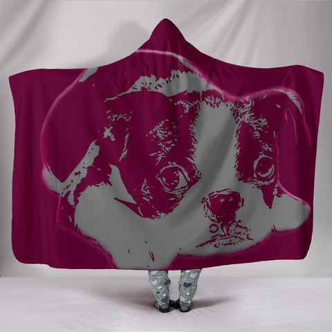 Cutest Boston Terrier Print Hooded Blanket-Free Shipping