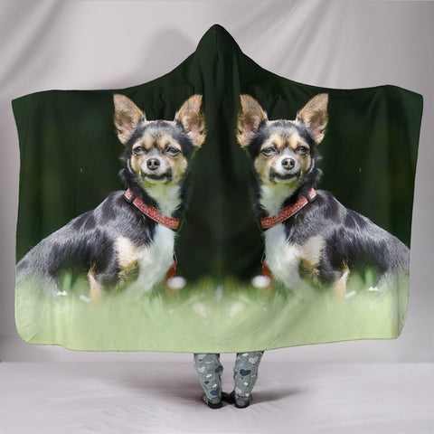 Lovely Chihuahua Dog Print Hooded Blanket-Free Shipping