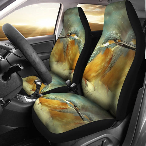 Kingfisher Bird Art Print Car Seat Covers-Free Shipping