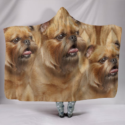 Brussels Griffon Dog Print Hooded Blanket-Free Shipping