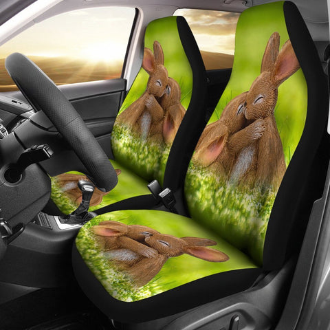 Cute Easter Bunny Print Car Seat Covers-Free Shipping