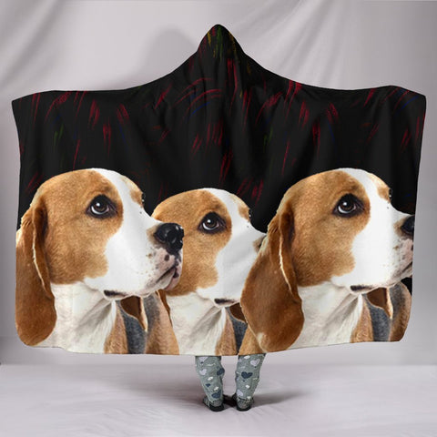Cute Beagle Dog 3D Print Hooded Blanket-Free Shipping