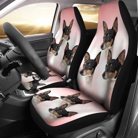 Toy Fox Terrier Dog Print Car Seat Covers-Free Shipping