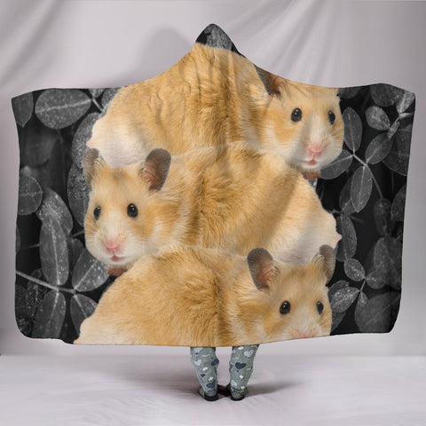 Cute Golden Hamster Print Hooded Blanket-Free Shipping