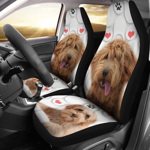 Goldendoodle Print Car Seat Covers-Free Shipping