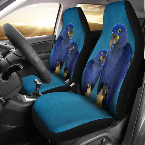 Cute Hyacinth Macaw Print Car Seat Covers-Free Shipping