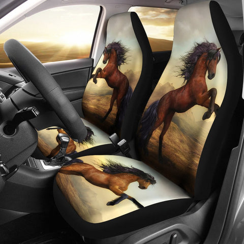 Wild Horse Art Print Car Seat Covers-Free Shipping
