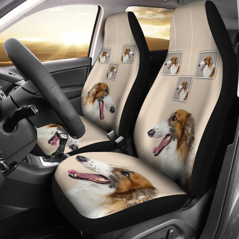 Borzoi Dog Print Car Seat Covers-Free Shipping