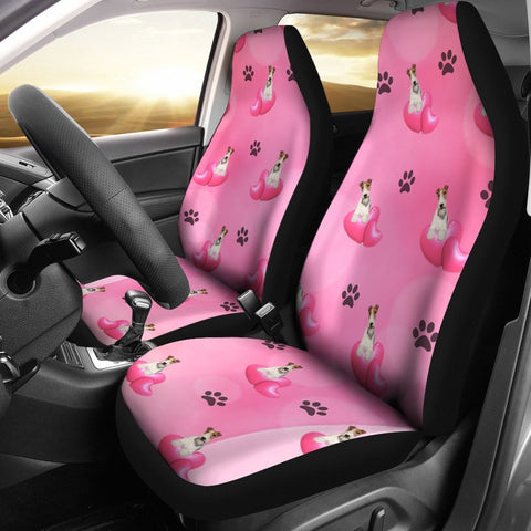 Wire Hair Fox Terrier dog Print Car Seat Covers-Free Shipping
