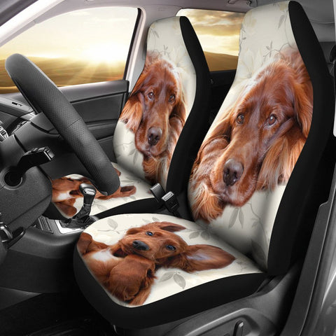 Cute Irish Setter Print Car Seat Covers-Free Shipping