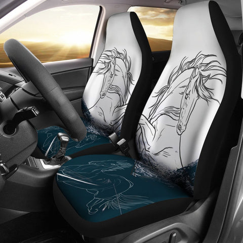 Dutch Warmblood Horse Print Car Seat Covers-Free Shipping