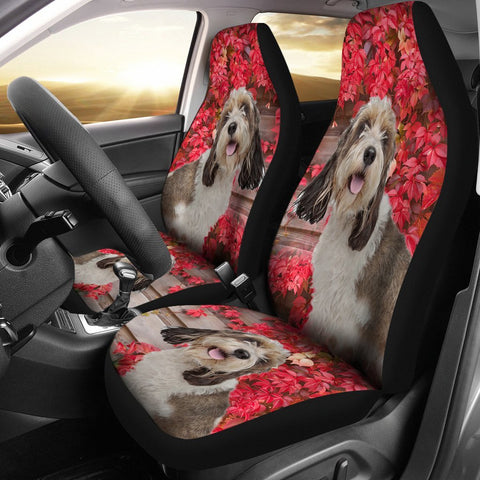 Cute Petit Basset Griffon Vendeen Print Car Seat Covers-Free Shipping