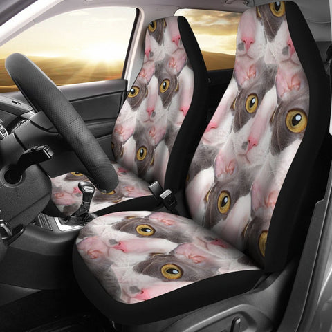 Cornish Rex Cat Print Car Seat Covers-Free Shipping