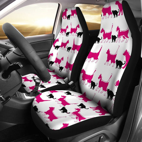 Amazing Walking Cat Print Car Seat Covers-Free Shipping