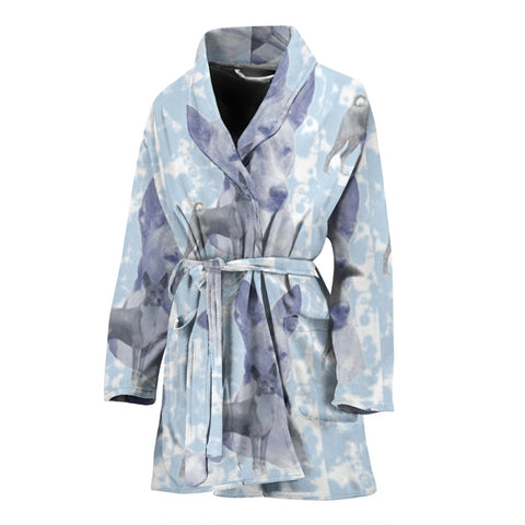 Basenji Dog Patterns Print Women's Bath Robe-Free Shipping