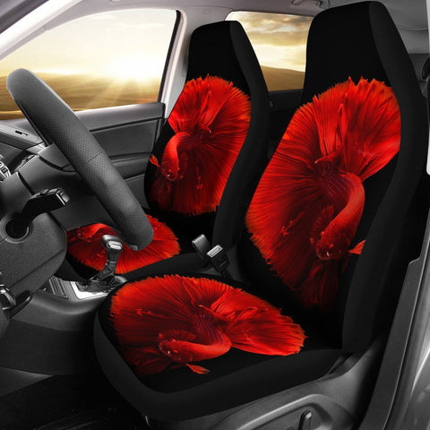 Red Betta Fish Print Car Seat Covers-Free Shipping