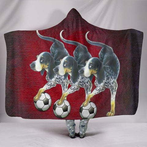 Bluetick Coonhound Dog Print Hooded Blanket-Free Shipping