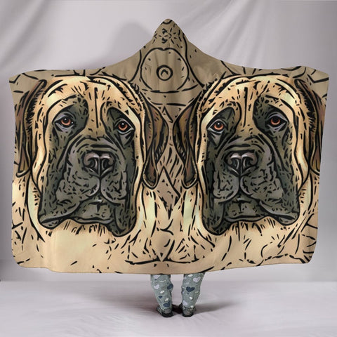 English Mastiff dog Print Hooded Blanket-Free Shipping