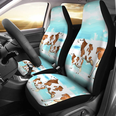 Montbeliarde Cattle (Cow) Print Car Seat Covers- Free Shipping
