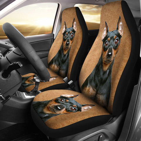 Cute Miniature Pinscher Print Car Seat Covers-Free Shipping