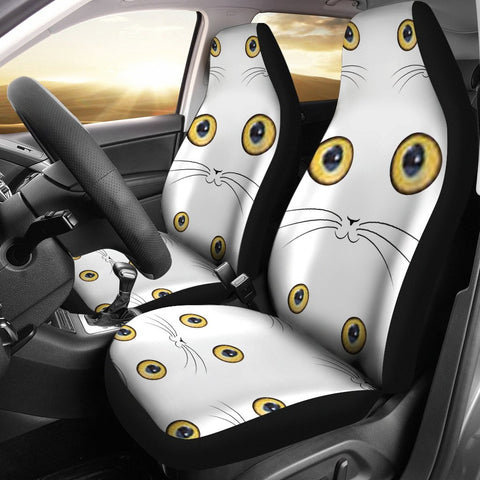 Cute Cat Eyes Print Car Seat Covers-Free Shipping