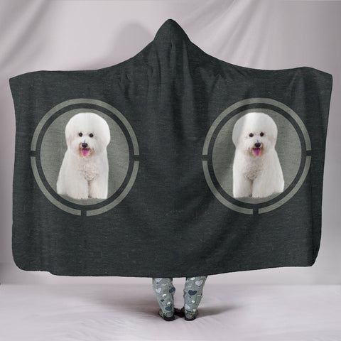 Bichon Frise Dog Print Hooded Blanket-Free Shipping